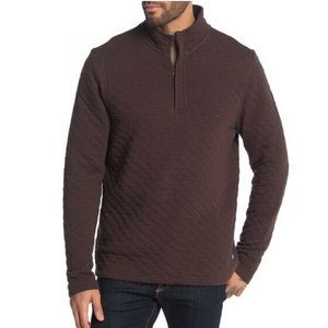 Tailor Vintage NEW Quilted Quarter Zip Pullover